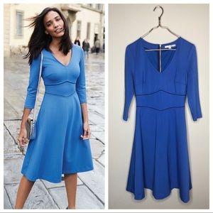 BODEN Bryony Ponte WW210 Smart Day Dress Blue 6